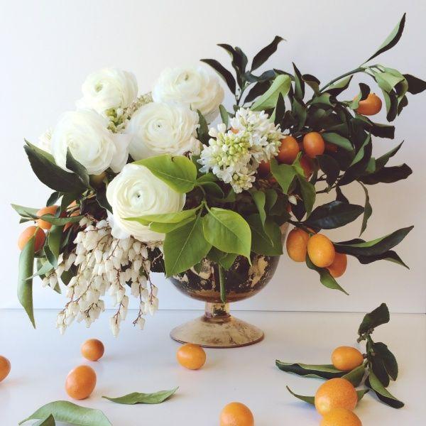 Mandi Nelson | white florals & kumquats