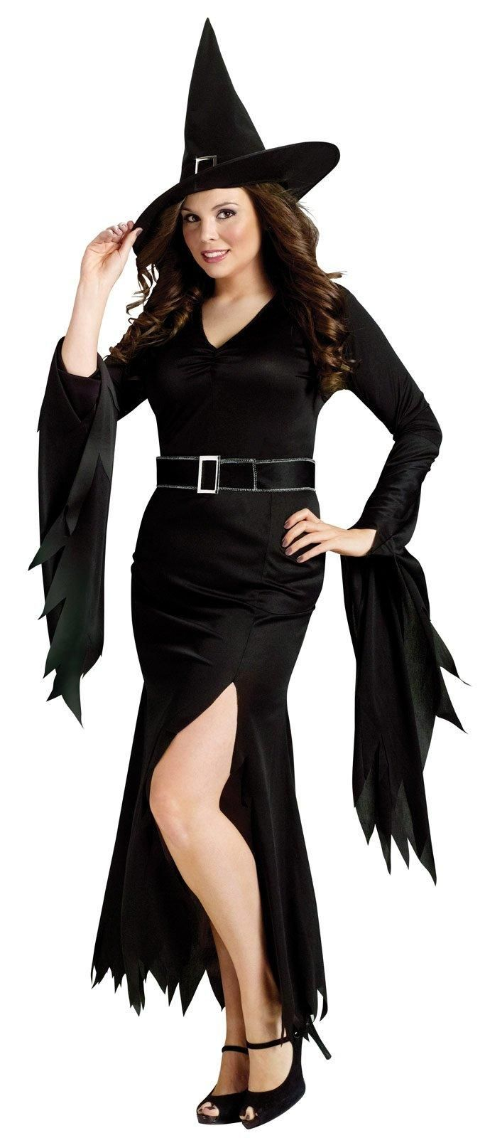 3007171c1 Womens Plus Goth Maiden Witch Costume in 2019 | Halloween costume ...