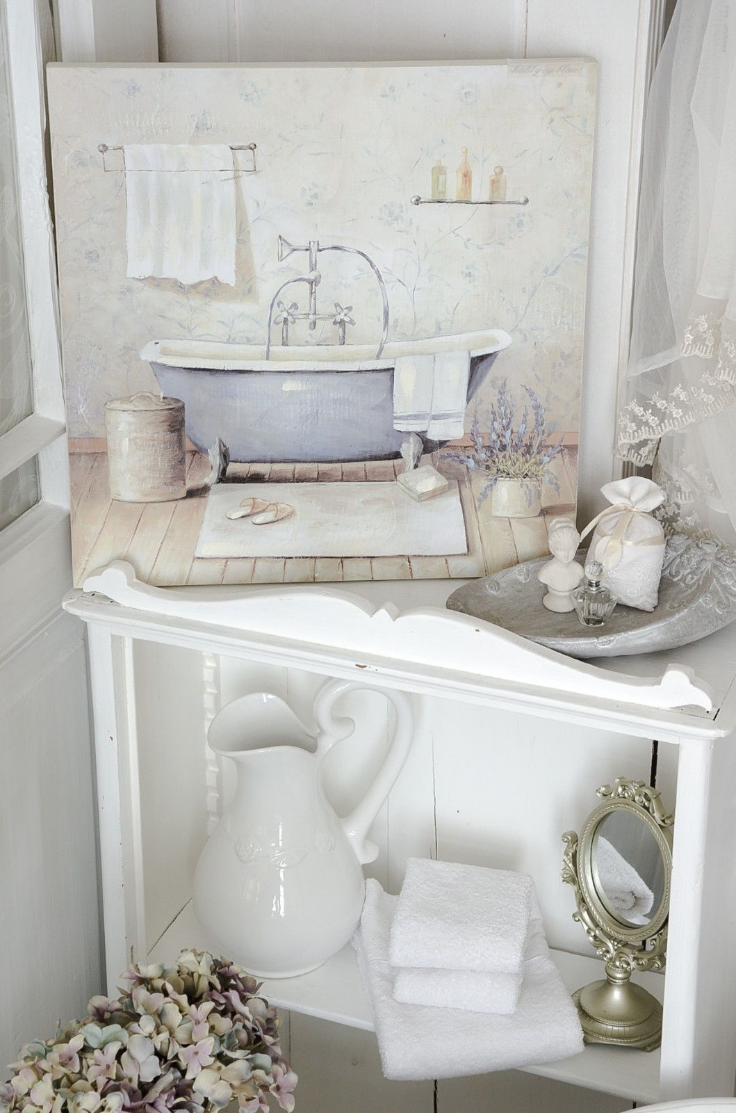 Vintage badezimmer design details zu clayre u eef bild bad badezimmer vintage shabby nostalgie