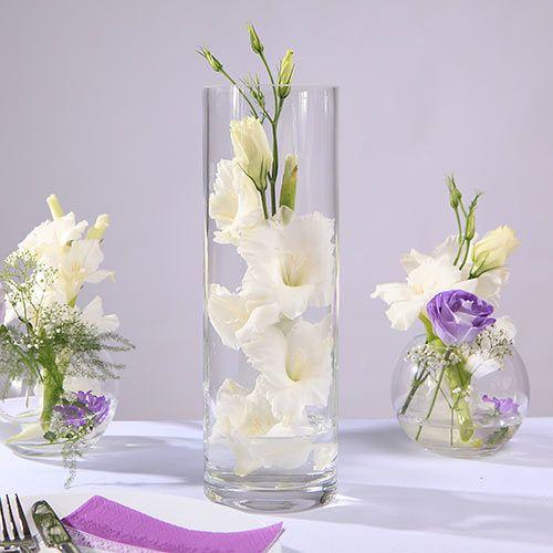 Wazon Walec Katarzyna 30cm Christmas Decorations Decor Glass Vase