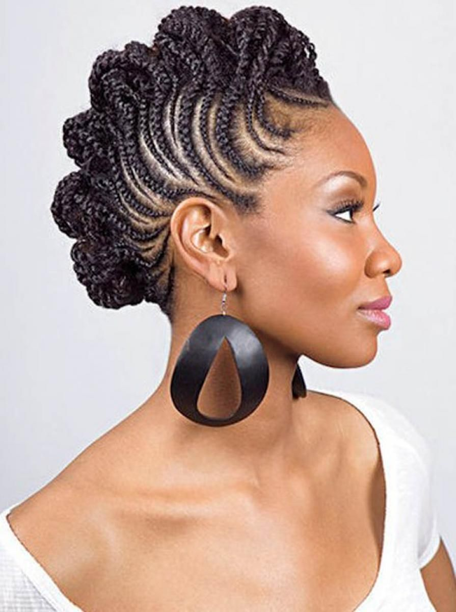 braided mohawk hairstyles for black women | popular black braided
