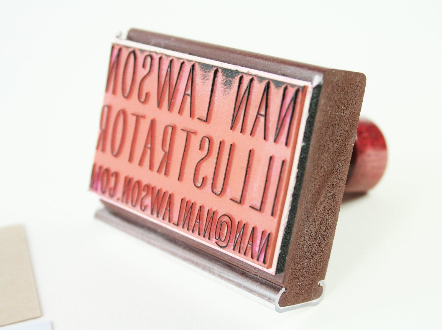 Custom Business Card Rubber Stamp. $55.00, via Etsy. Want it ...