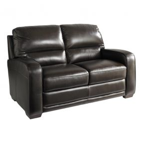 mid products hugger lowry reclining modern leather loveseat century furniture wall power