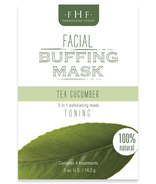 Fhf tea cucumber facial buffing mask facial treatment