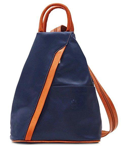 6546f4f10e Handbag Bliss Super Soft Italian Leather Rucksack   Shoulder Bag (Metallic  Rose Gold)