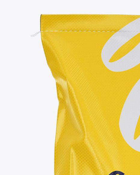Download Polypropylene Bag 3d Mockup Halfside View In Bag Sack Mockups On Yellow Images Object Mockups In 2021