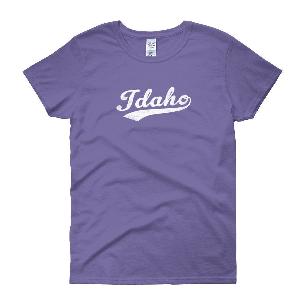 Vintage Idaho ID Women's T-Shirt with Script Tail Design