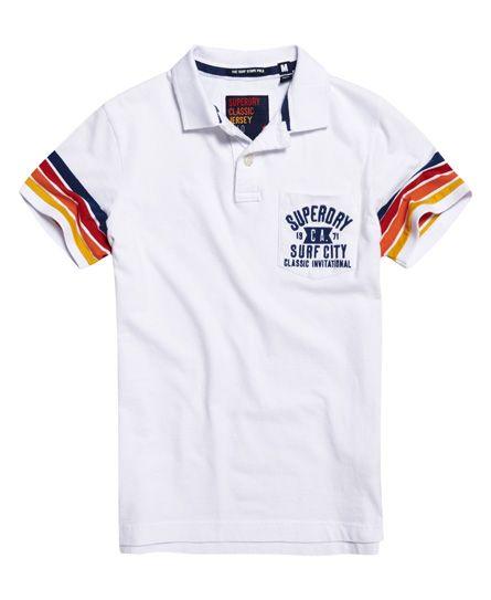 buy grote korting New York Superdry Cali Surf Stripe Optic Polo Shirt White | kids in ...
