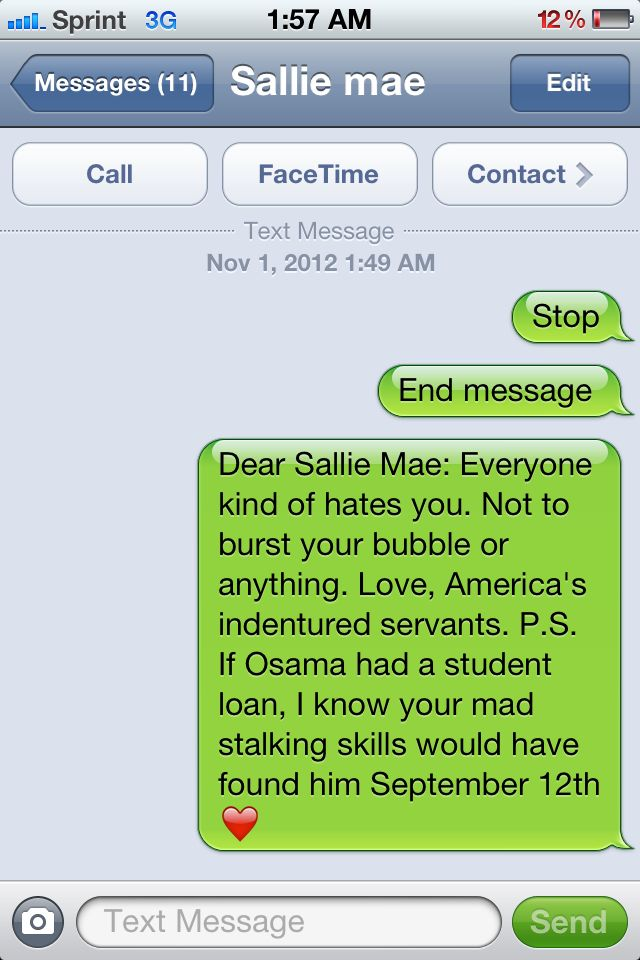 Love letter to Sallie Mae funny Pinterest Funny Quotes, Haha
