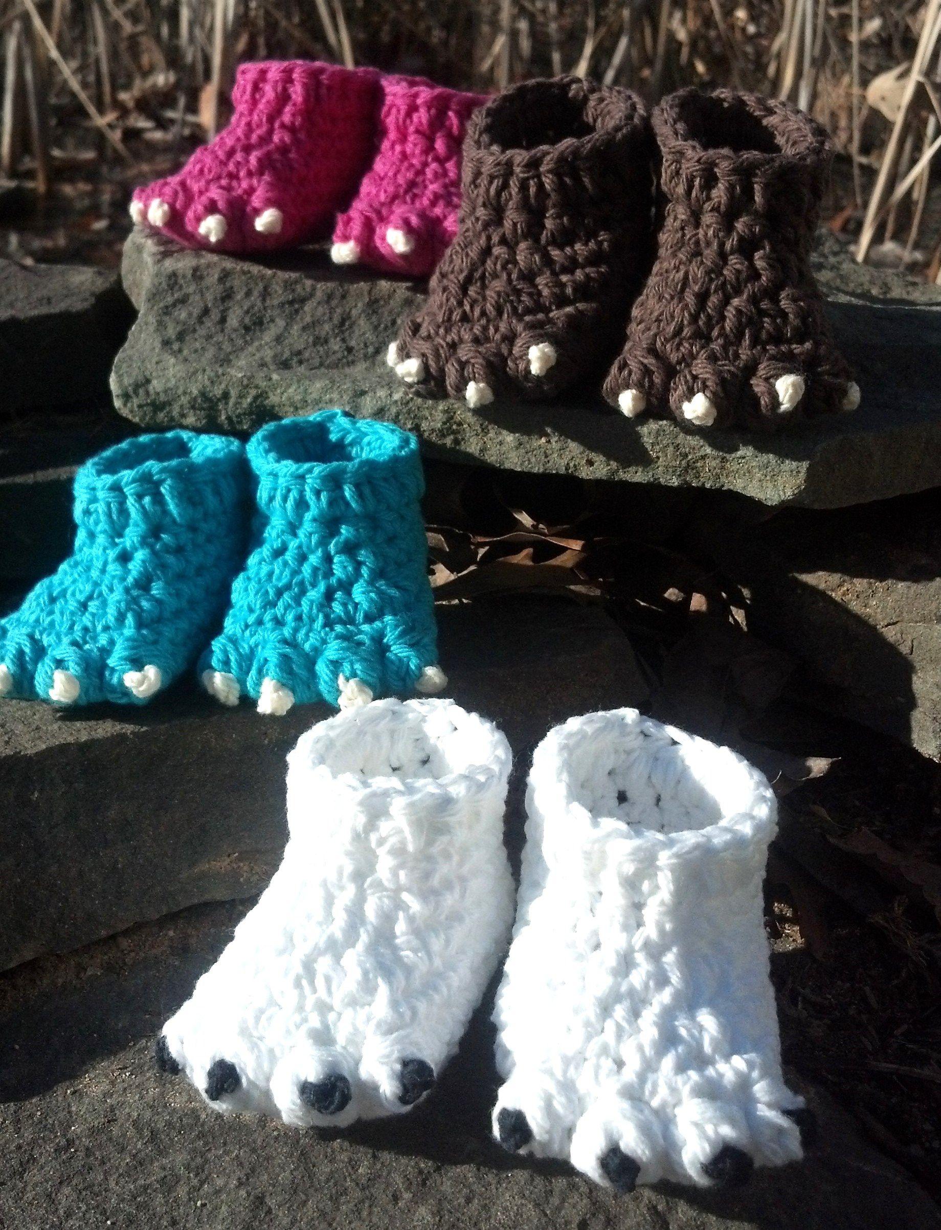 Garritas de lana al crochet | Tejidos | Pinterest | Garra, Lana y Tejido