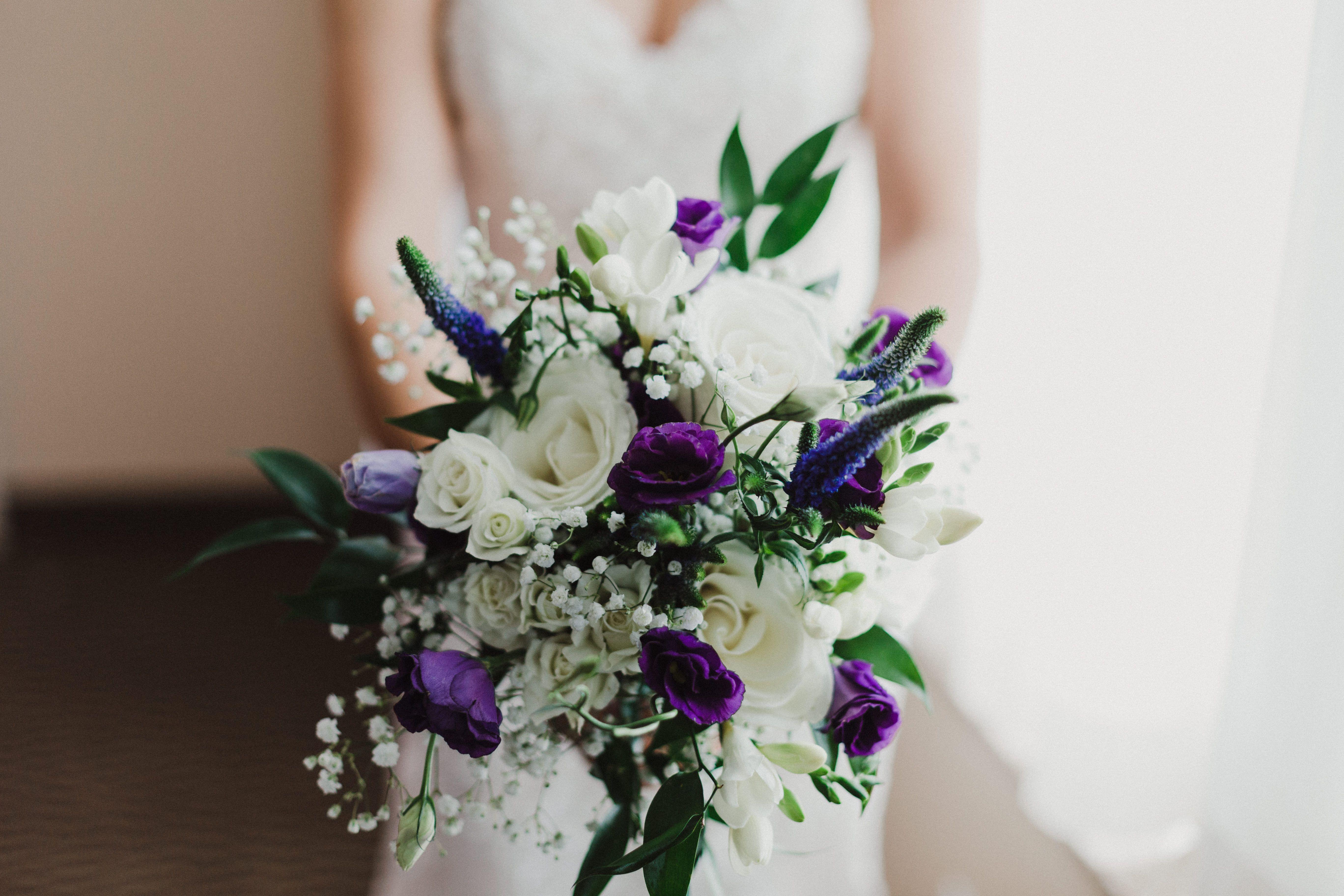 Purple Wedding Bouquet Purple wedding bouquets, Wedding