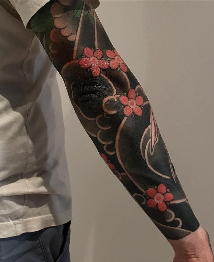 Cool Blackout Tattoo Ideas C Tattoo Artist Lupo Horiokami Tattoo Sleeve Designs Sleeve Tattoos Blackout Tattoo