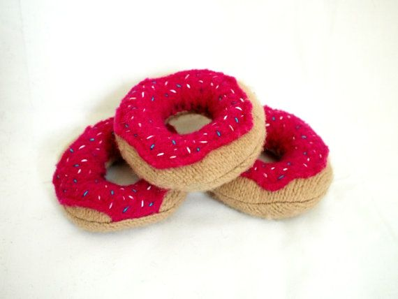 doughnuts with sprinkles wool felt food eco friendly play kitchen