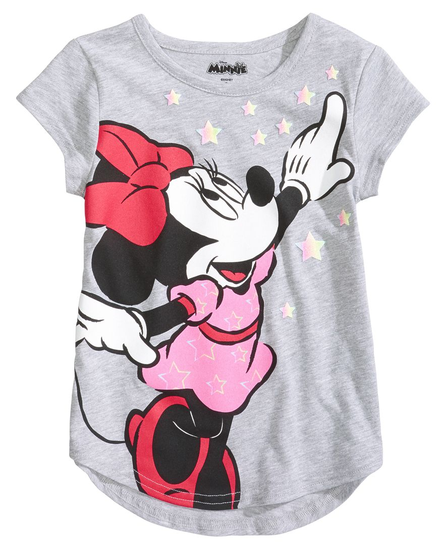 82fb18257 Disney decorates this stylish curved-hem T-shirt with a darling ...