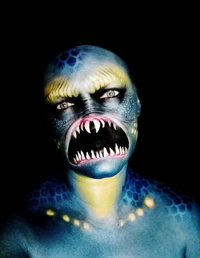 This Self-Taught Artist Creates Terrifying Monsters on Her Face - halloween face paint ideas scary