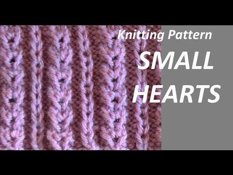 Knitting Pattern Small Hearts Youtube Crafting Knitting