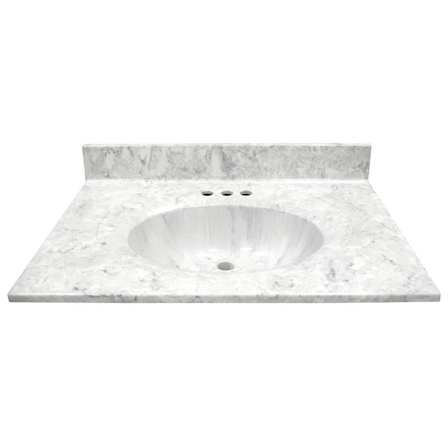 Us Marble Recessed Oval Standard 31 In Gray On White Gloss Cultured Marble Bathroom Vanity Top Lowes Com Cultured Marble Bathroom Vanity Tops Marble Bathroom Vanity