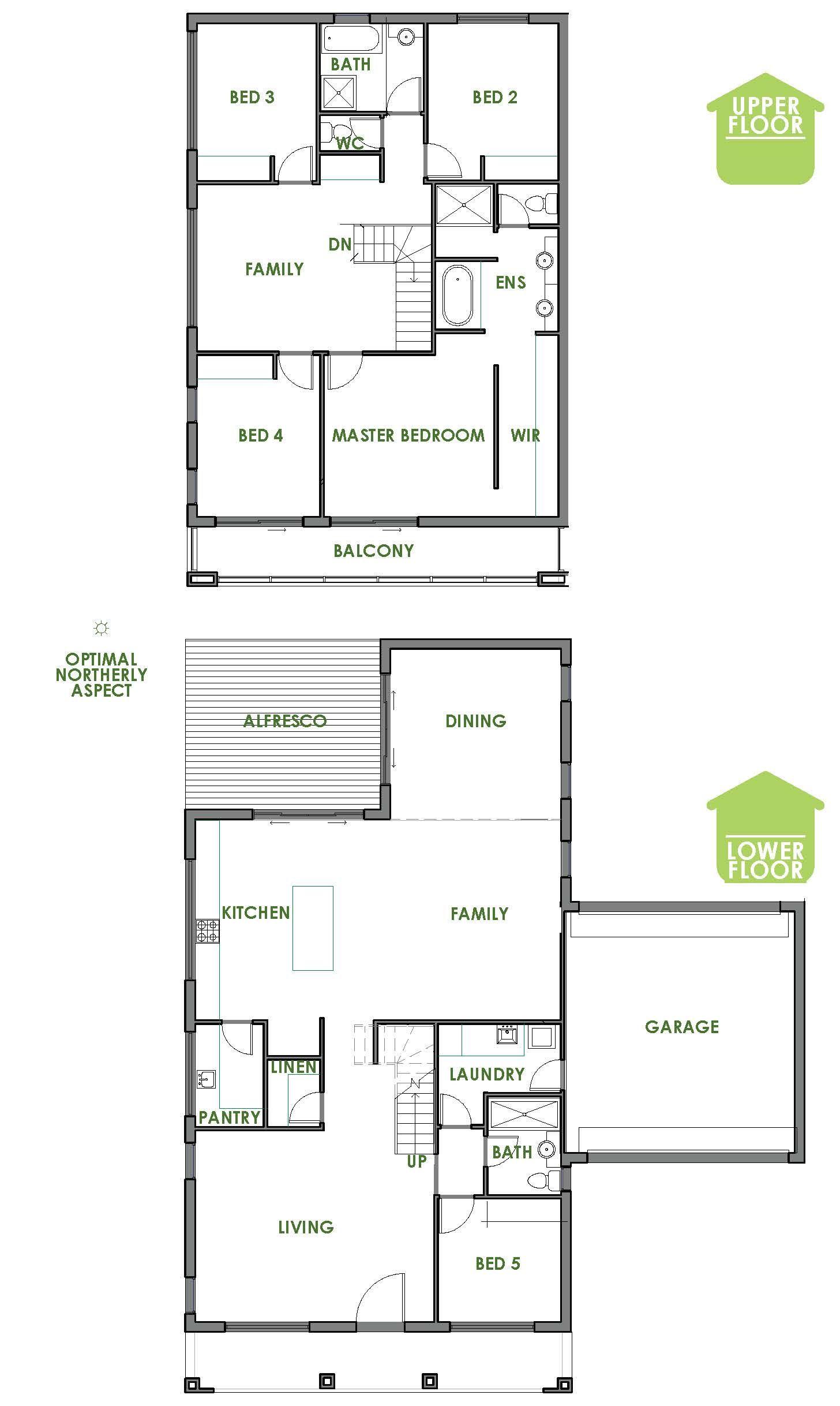 The Clontarf is a contemporary, energy efficient home