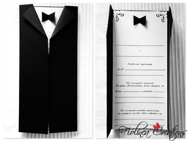 Zaproszenia Slubne Czarno Biale Szukaj W Google Suit Jacket Suits Fashion