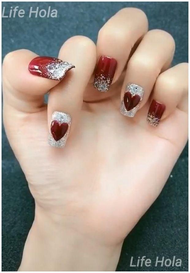 Korean Nail Art Red