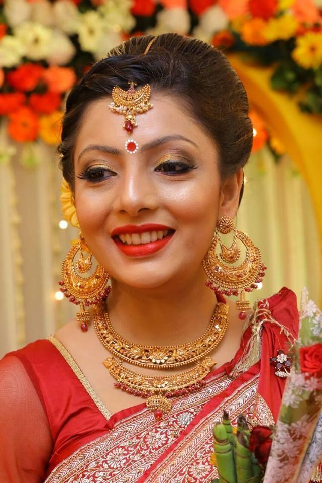 Gorgeous Bengali bride A sircar #BengaliGoldJewellery ...