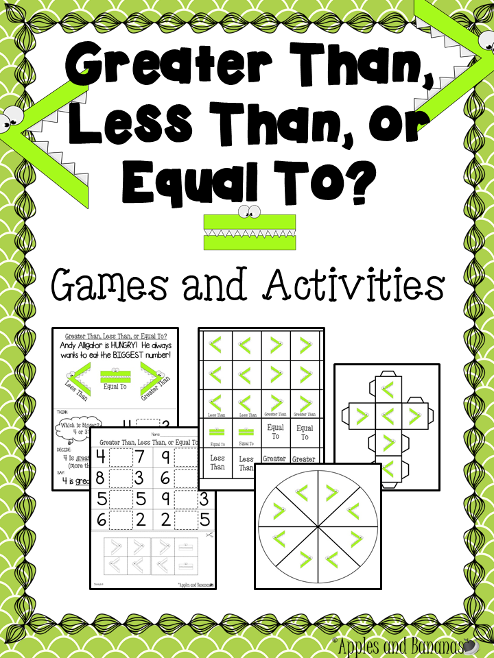 Greater Than Less Than Or Equal To Games And Activities