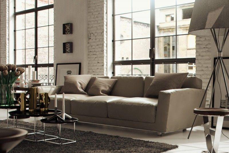 Chicago Loft Interior by Bertrand Benoit Living Space Pinterest - wohnzimmer ideen hell