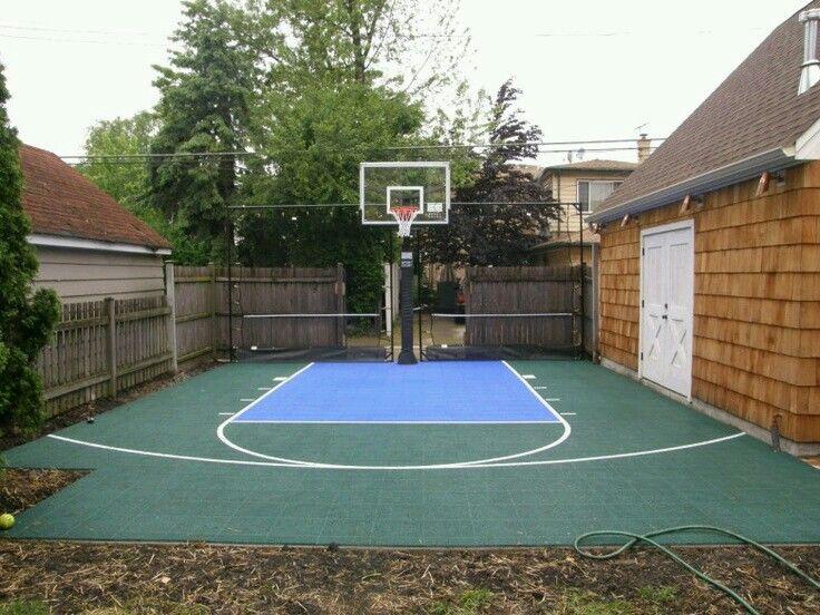 Great use of space | Basketball court backyard, Backyard ...