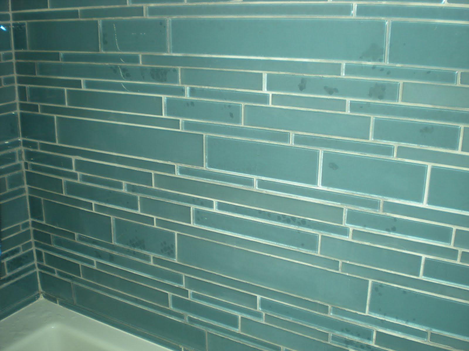 ocean glass tile | Glass Tiled Bathroom | Bath Ideas | Pinterest ...