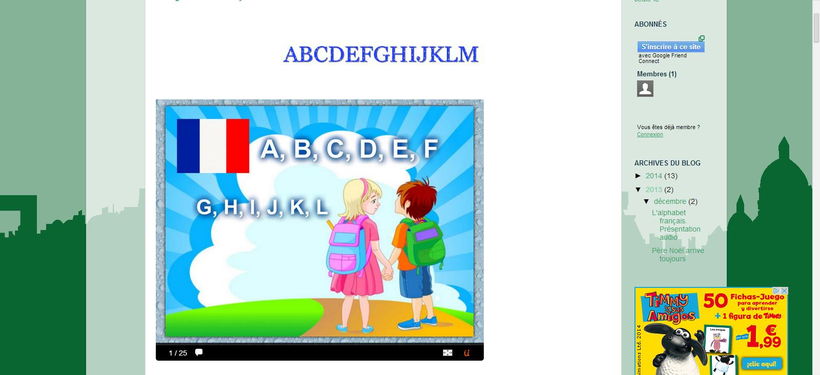 L'alphabet français illustré et animé