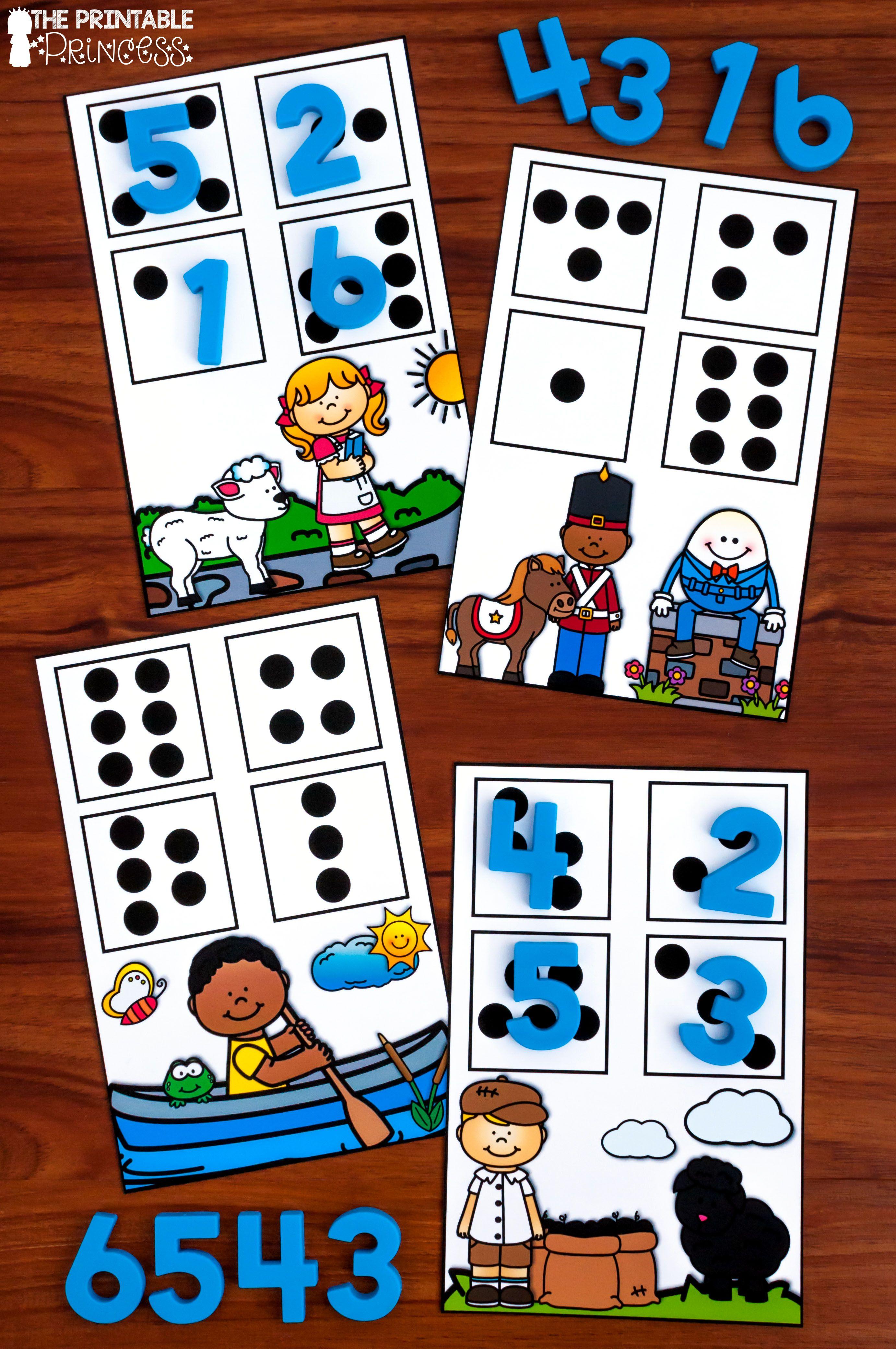 Kindergarten Nursery Rhyme Centers For