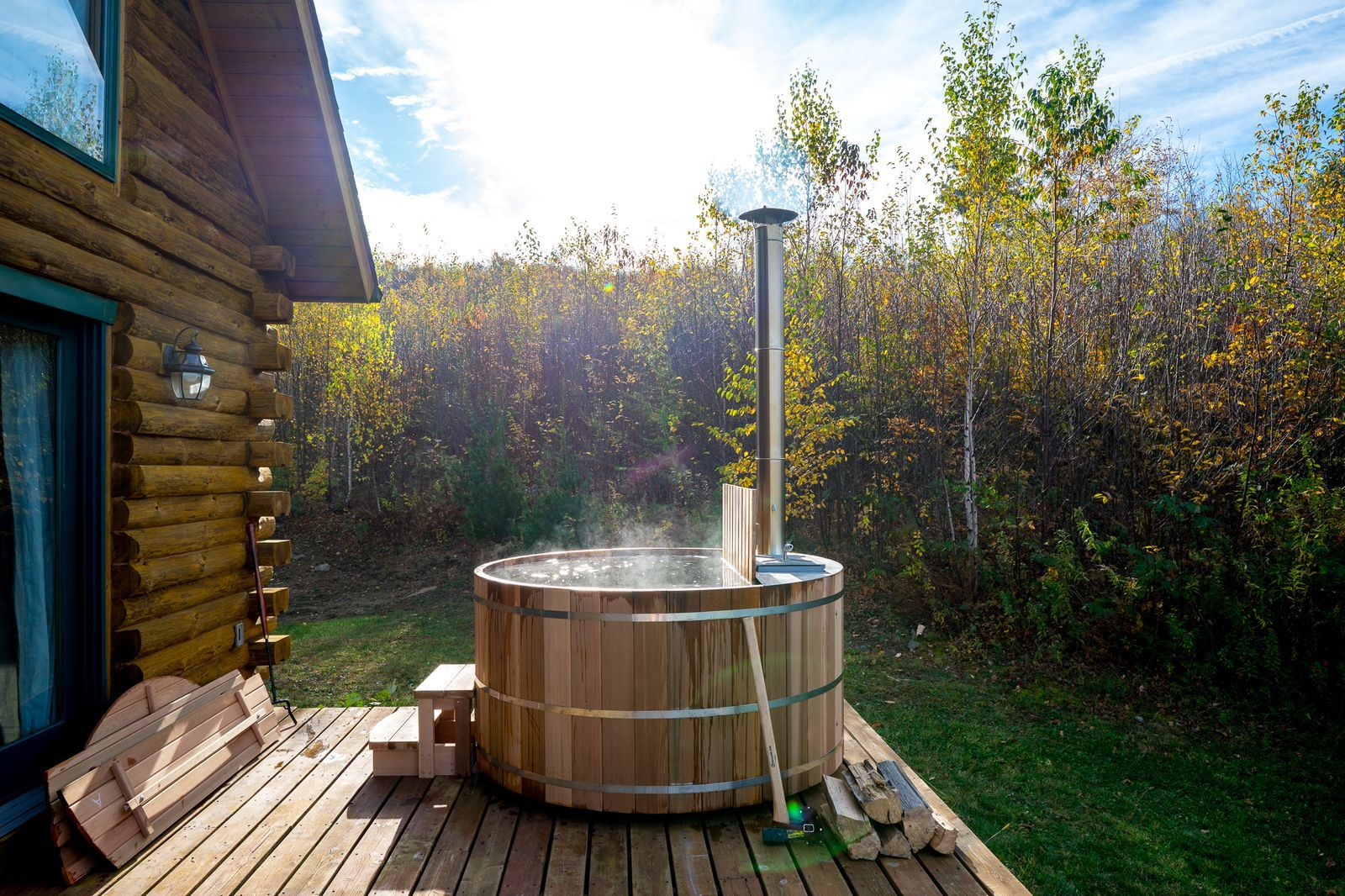 A woodfired hot tub is exactly what your backyard needs