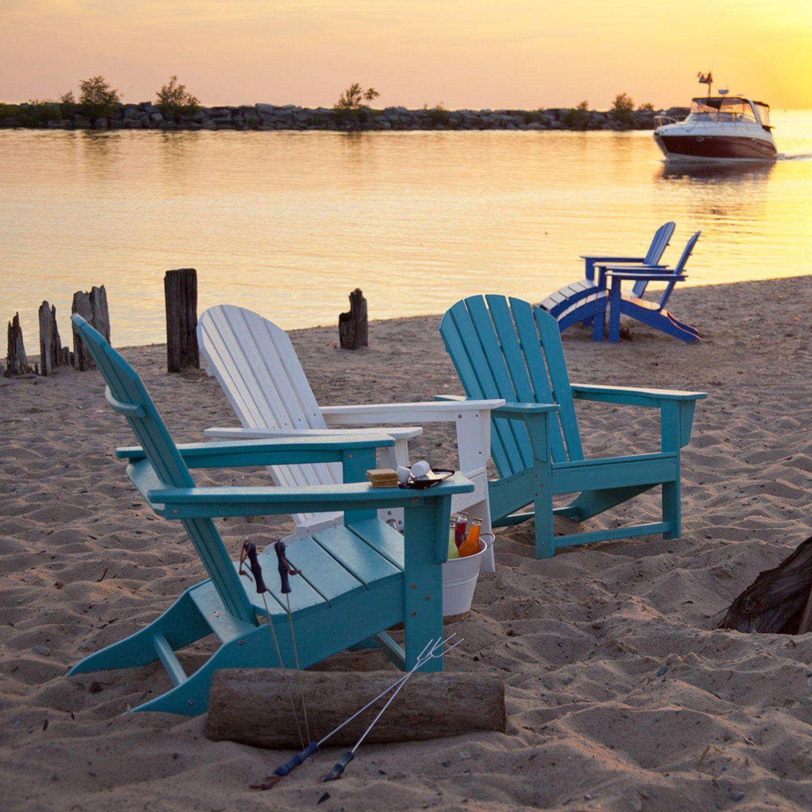 POLYWOOD® South Beach Recycled Plastic Adirondack Chair   Adirondack Chairs  At Hayneedle