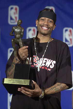 Allen Iverson Philadelphia Sixers NBA Most Valuable Player