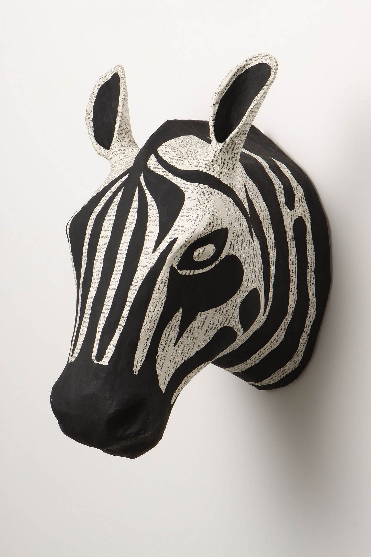 Cool zebra sculpture from Anthropologie