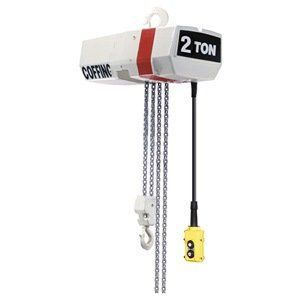 Elec Chain Hoist 2t 16fpm 460v By Coffing 6789 57 Electric Chain Hoist Variable Frequency Drive Capacity 2 Ton Lift 10 Ft L It Cast Hoist Pushbutton