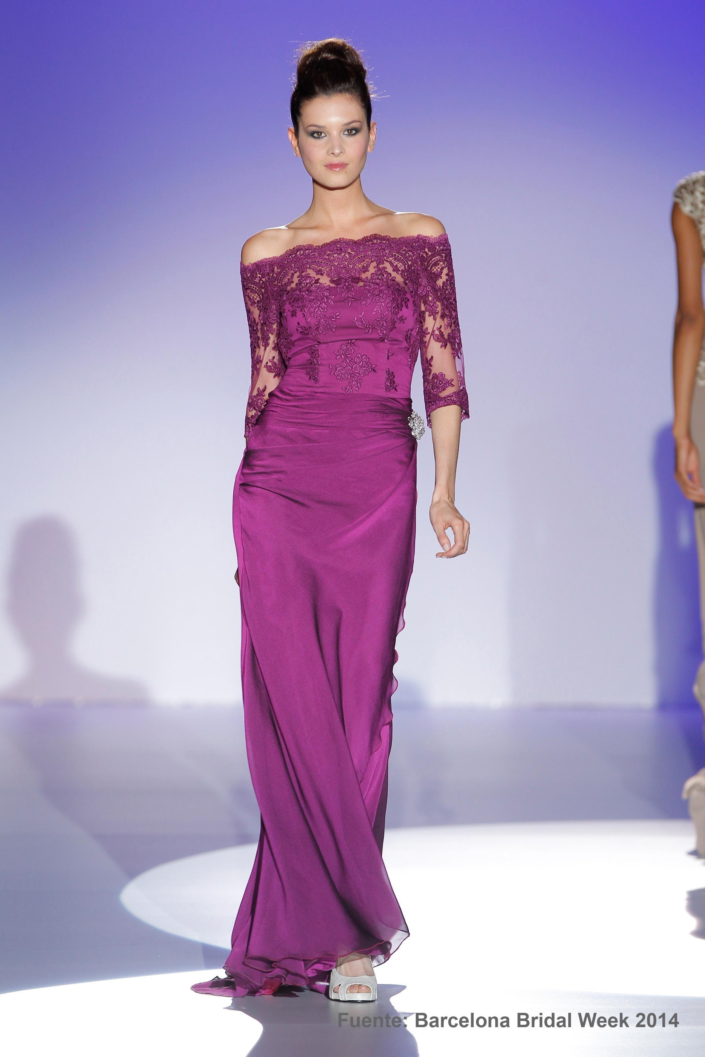 Vestido de Fiesta de Franc Sarabia (FS 12), corte evasé, escote ...