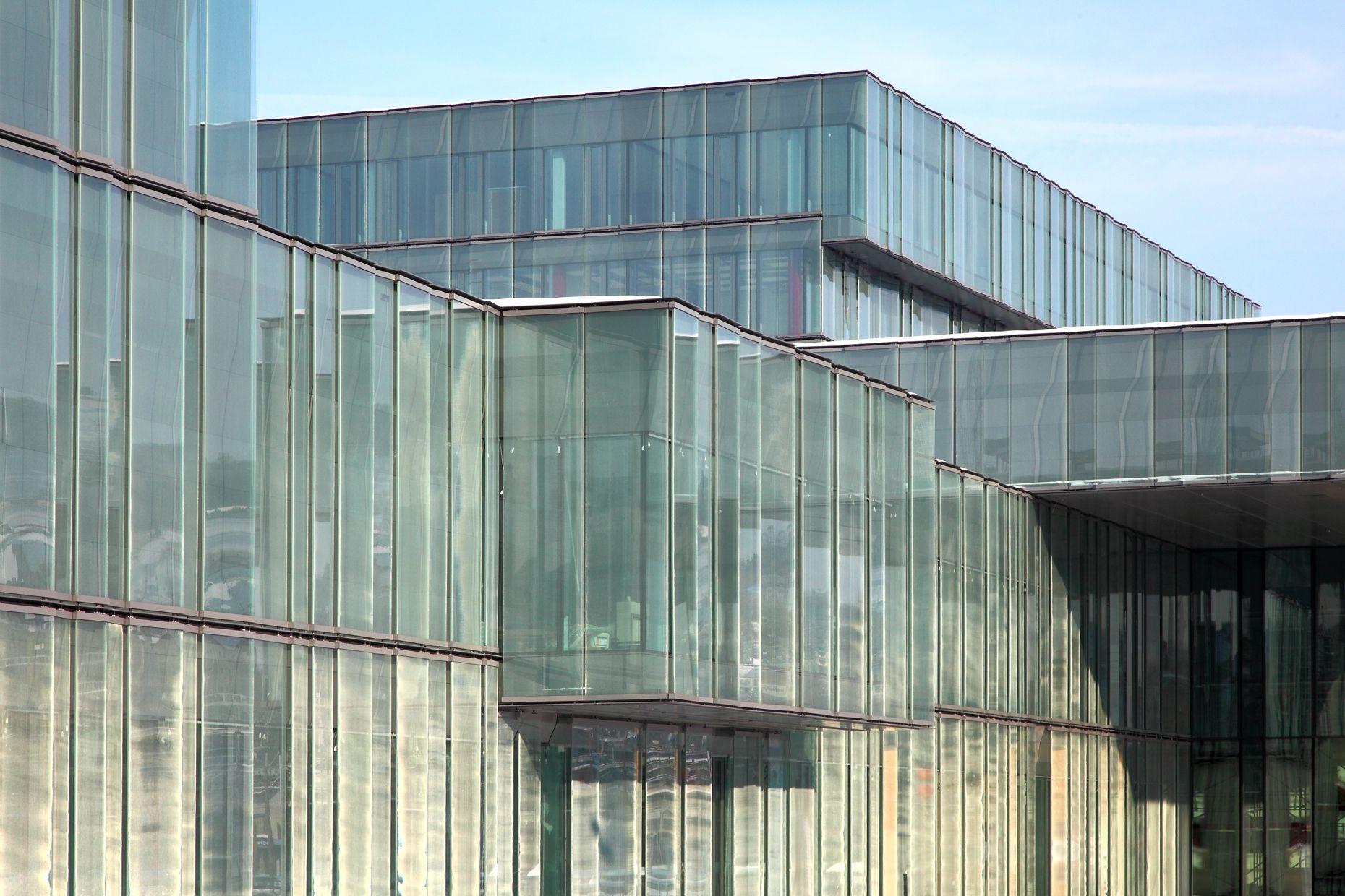 Glass Facade Laminated Sefar Architecture Vision Fabric Facade