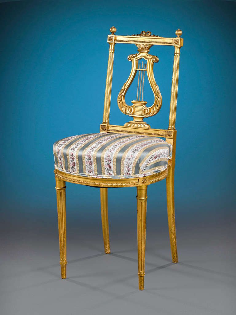 Louis XVI Style Music Chairs  Pair PRICE   4 950 Purchase COUNTRY  France  DATEPair of Louis XVI Style Music Chairs   Louis xvi and 19th century. Louis Xvi Style Furniture For Sale. Home Design Ideas