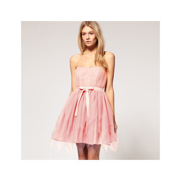 Starry Retro sweet high waist lace tutu dress pink - Official Starry... via Polyvore