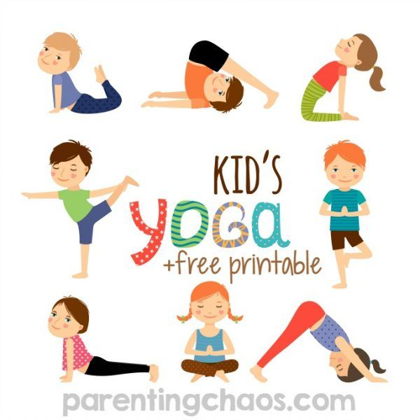 Yoga for Kids + Free Printable | Kinder yoga, Yoga und Kinder garten