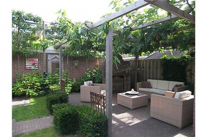 Leuke tuin vanuit andere hoek tuin pinterest tuin terras en doors - Luifel ontwerp voor patio ...