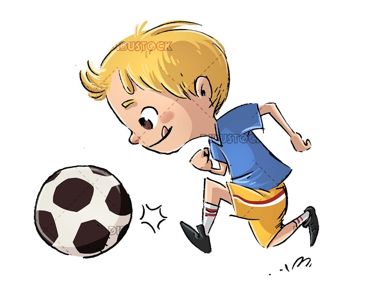 Child Football Ball Playing Sport Ball Shooting Running Team Happy Cheerful Playing Cute Childhood Chil In 2020 Soccer Boys Soccer Artwork Soccer Drawing