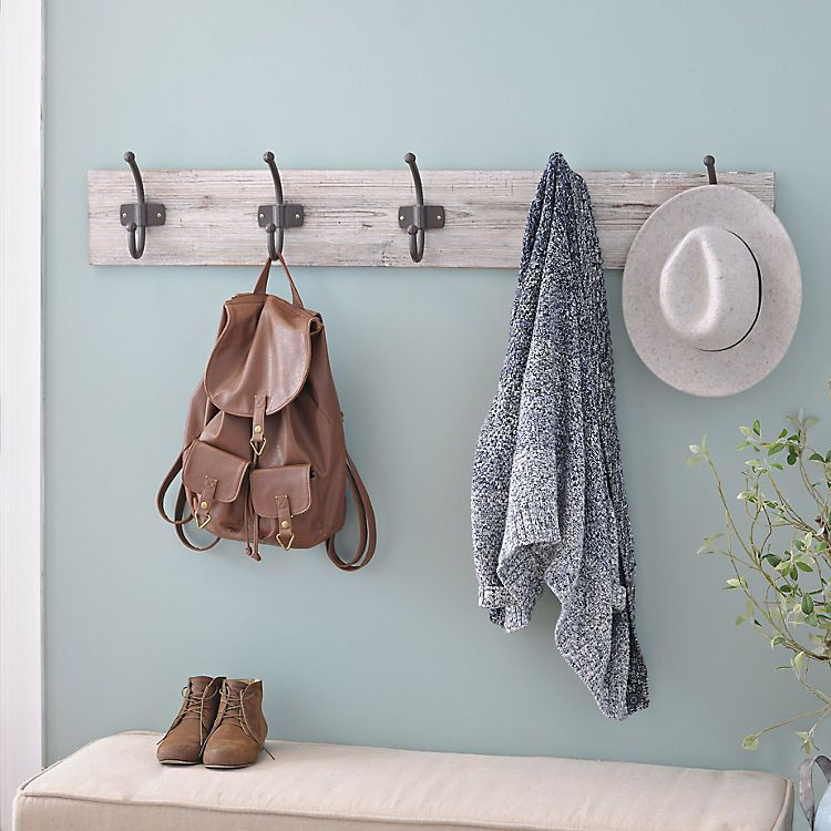 Distressed White Wood Hooks Wall Plaque Kirklands Distressed Wood Wall Coat Hooks On Wall Wood Hooks