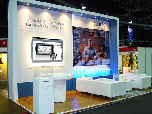 Marketing Exhibition Stand : Glacier exhibit i retirement expo xzibit exhibition