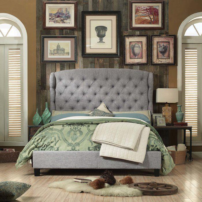 Huffman Queen Upholstered Panel Bed Upholstered platform