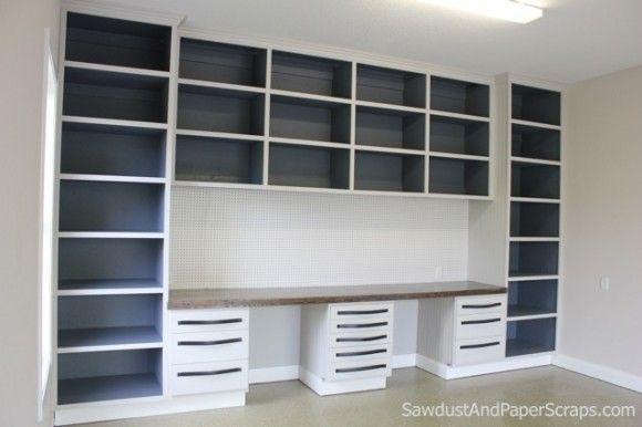 Workshop Cabinets In Garage   Sawdust Girl®