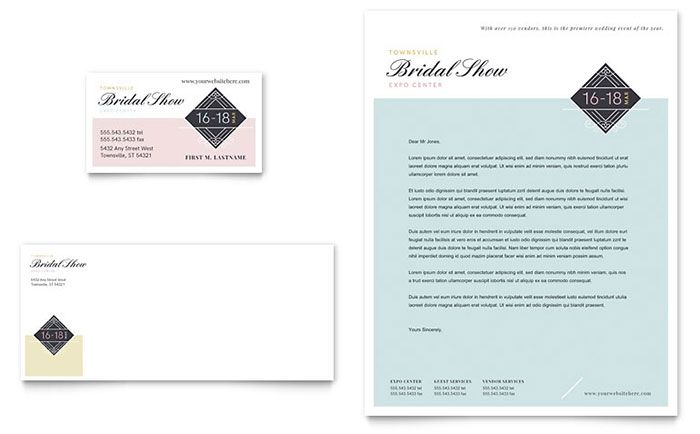 Bridal show business card and letterhead template design by bridal show business card and letterhead template design by stocklayouts spiritdancerdesigns Images