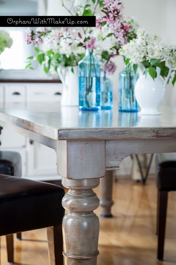 This table was finished in Coco and washed with Country Grey Chalk ...