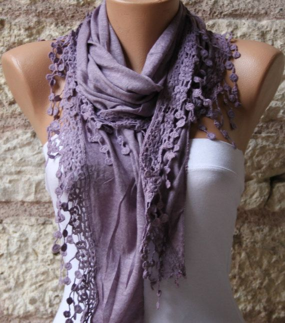 Lilac   Shawl Scarf  Headband Necklace Cowl by fatwoman on Etsy, $17.00